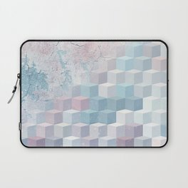 Distressed Cube Pattern - Pink and blue Laptop Sleeve