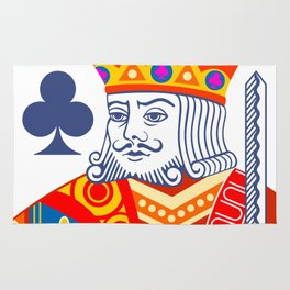 King of Clubs Rug