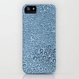 Water Condensation 05 Blue iPhone Case