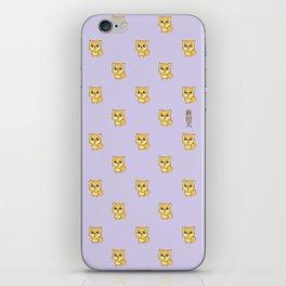 Hachikō, the legendary dog pattern iPhone Skin