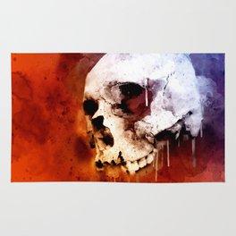 Cool Skull, Unique Best Skull Painting Rug