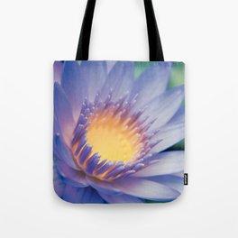 He makana nau Ke Aloha - Nymphaea stellata  - Star Lotus Tote Bag