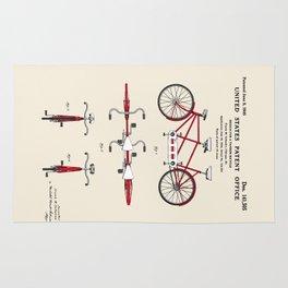 Tandem Bicycle Patent Rug