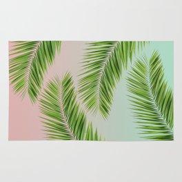 palm leaves Rug