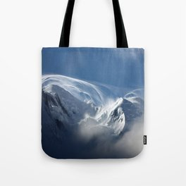 Blizzard in the High Mountains Tote Bag