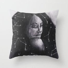 Stars within her Throw Pillow