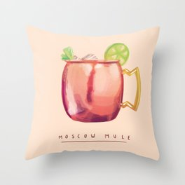 Moscow Mule Throw Pillow