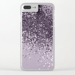 Sparkling Lavender Lady Glitter #2 #shiny #decor #art #society6 Clear iPhone Case
