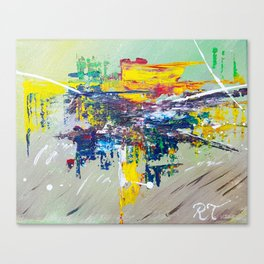 Equestria: Exciting Countryside Abstract Canvas Print