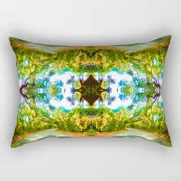 Psychedelic Trees Rectangular Pillow