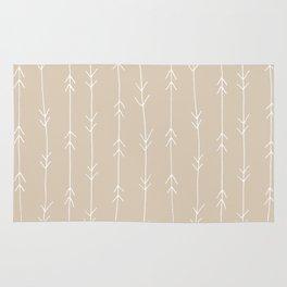 Arrow Pattern: Beige Rug