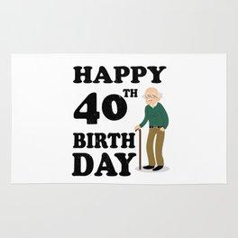 FUNNY OLD | 1978 Birthday Shirt Rug