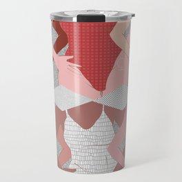 My Thighs Rub Together & I'm OK With That - Positive Body Image Digital Illustration Travel Mug