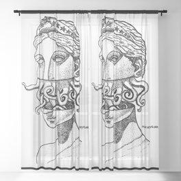 Greek Renaissance Octopus Sheer Curtain