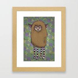 Fawn Girl Framed Art Print