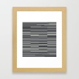 Gray Stripes Framed Art Print