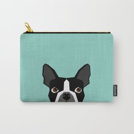 Logan - Boston Terrier pet design with bold and modern colors for pet lovers Carry-All Pouch