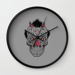 Day of the Dead Sugar Skull Wall Clock
