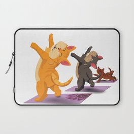 Yoga Cats Laptop Sleeve