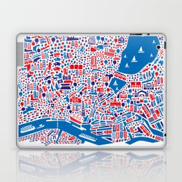 Hamburg City Map Poster Laptop & iPad Skin