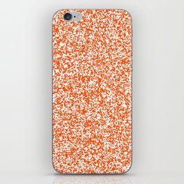 Tiny Spots - White and Dark Orange iPhone Skin