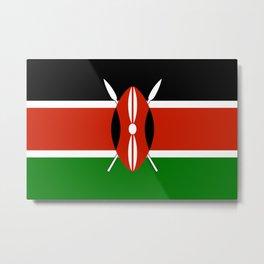 Kenyan national flag - Authentic version Metal Print