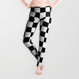Black and White Checkerboard Pattern Leggings