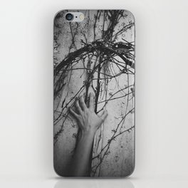reaching, growing iPhone Skin