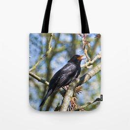 Singing blackbird Tote Bag