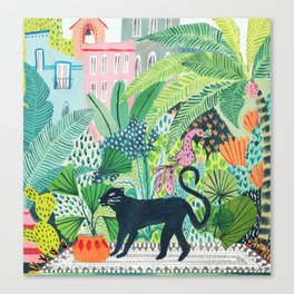 Jungle Panther Canvas Print