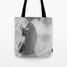 Gijinka Angel Ogura on the Clouds - Black and White Edition Tote Bag
