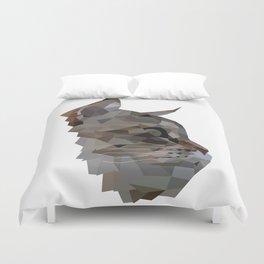 Geometric Cat Digitally Created Duvet Cover