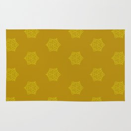 Snowflake I Yellow Rug