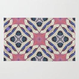 lattice work collage Rug