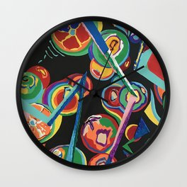 Colorful Abstract Fruit Wall Clock
