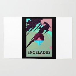 Enceladus - NASA Space Travel Poster (Alternative) Rug