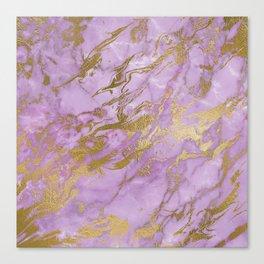 Lavender Gold Marble Canvas Print