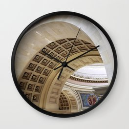 Wisconsin Capitol Building Arches And Angles Wall Clock
