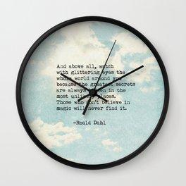 Roald Dahl Glittering Eyes Wall Clock