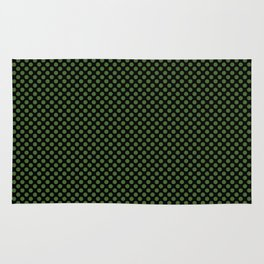 Black and Treetop Polka Dots Rug