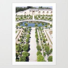 The Orangerie at Versailles Art Print