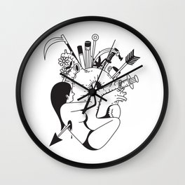 Love, Hate and Desire Wall Clock