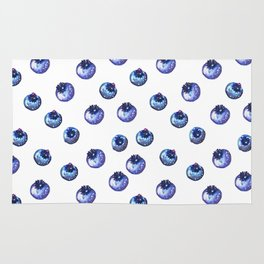 Pattern design with blueberries Rug