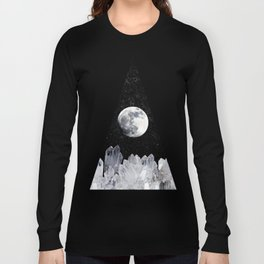 White Moon Long Sleeve T-shirt