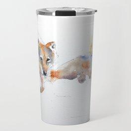 Two Wolves Travel Mug