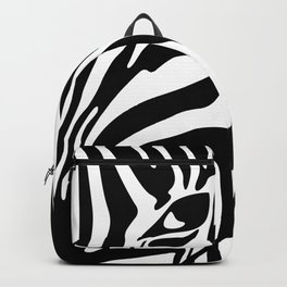 Black And White Zebra Portrait, Animal Photo, Large Printable Photography, Stripes Wall Art, Striped Backpack