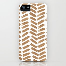 Gold Chevron iPhone Case
