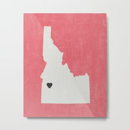 Idaho Love Metal Print