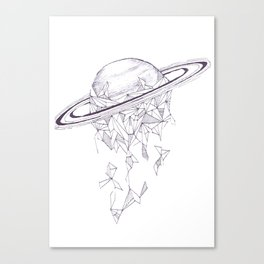 Geometric Saturn Canvas Print