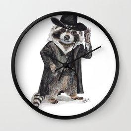 Raccoon Bandit Wall Clock